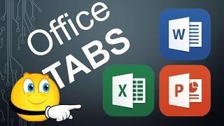 Несколько документов в Word - Excel - PowerPoint. Утилита - Office Tabs