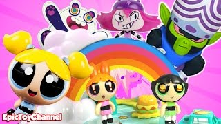 Powerpuff Girls Toy Video: Story Maker System ToysReview + Bubbles Blossom Buttercup + Mojo Jojo