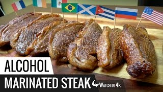 ALCOHOL STEAKS Marinated in liquor Experiment - Sous Vide Steak Tested with Joule from ChefSteps