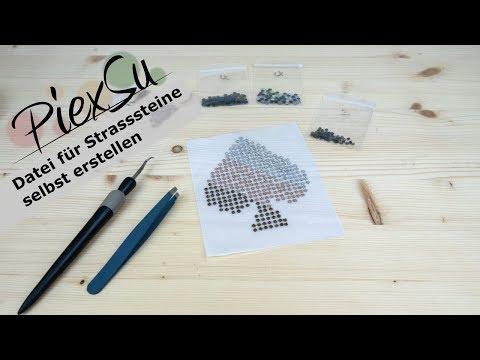 Plotteranleitung - Strasssteine-Schablone ohne Kit erstellen | PiexSu