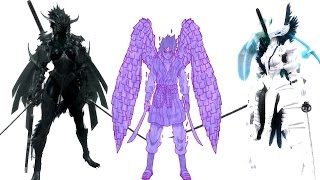 The Elder Scrolls V: Skyrim Mods: Sasuke Perfect Susano'o/Transformation Dark Knight and Paladin