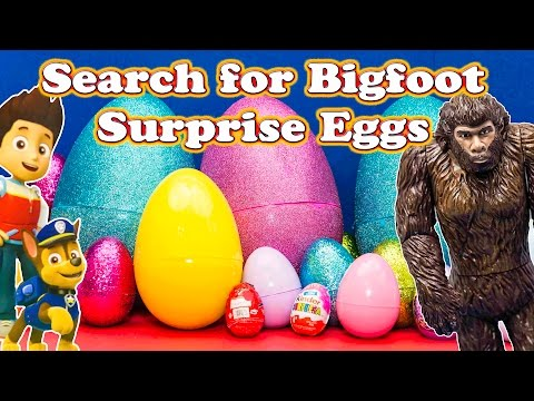 Is Bigfoot in One of the Giant Paw Patrol  Surprise Eggs?