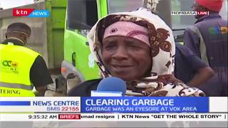 Relief for Mombasa residents as county government clears VOK garbage that has been an eyesore