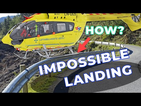 Norwegian Air Ambulance Lands on Guard Rail..!