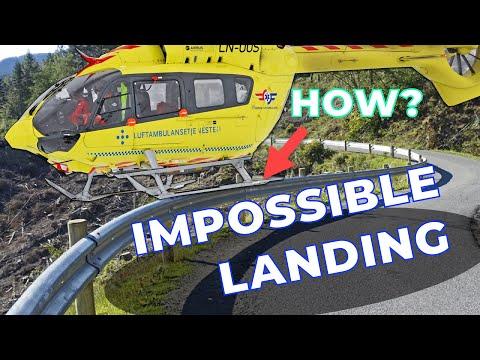 Norwegian Air Ambulance Lands on Guard Rail..!