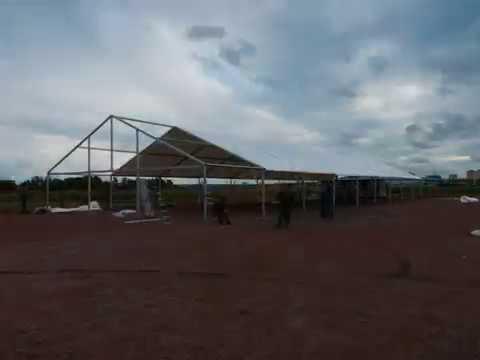 сборка алюминиевого ангара РАСКОН