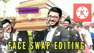 Kinemaster FACE SWAP editing   Carry Minati Face Swap Editing  Face swap kinemaster Editing
