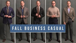 5 Stylish Business Casual Outfits For Fall | Mens Smart Casual Outfit Ideas