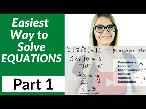 Solving Equations for Beginners - Part 2 - Multi Step Equations