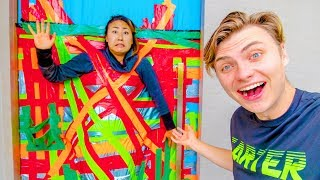 DUCT TAPED TO THE DOOR FOR 24 HOURS!!