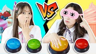 """DON'T PRESS THE WRONG BUTTON """"ICE WATER FLAKES WITH SYRUP"""" CHALLENGE!!  AND MUKBANG