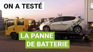 Test de la « PANNE SÈCHE » de batterie avec une voiture électrique (VE)