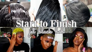 How To Make The PERFECT JET BLACK Bob Wig | Start To Finish | Laurasia Andrea