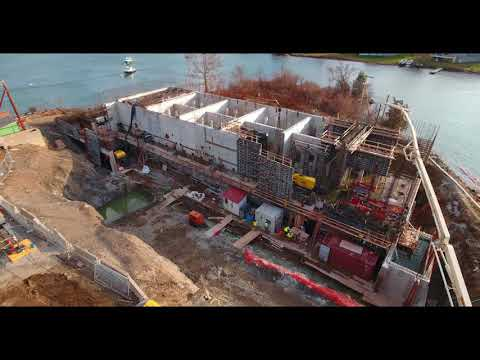 12 7 2017   Aerial Video Peirce Island Wastewater Treatment Facility