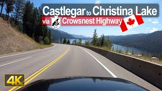 Driving from Castlegar to Christina Lake in British Columbia 🇨🇦