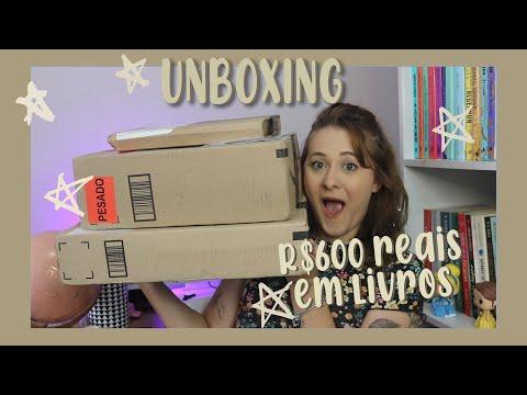 unboxing de R$600 reais em livros
