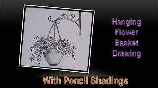 Hanging Flower Basket Drawing