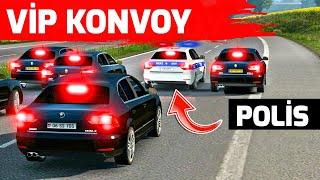 POLİS İLE KONVOY YAPIYORUZ !!  ETS 2 MP