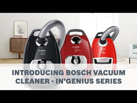 Introducing Bosch Vacuum Cleaner - In' genius Series SilenceSound System