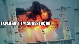 Transformador de subestação explode durante temporal, em Itaporanga (PB)