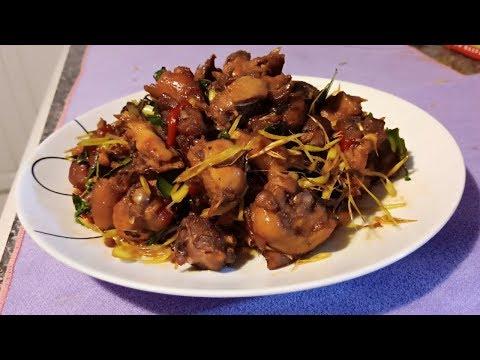 ឆាព្រៃមាន់ស្រែ  Stir Fried Chicken Farm