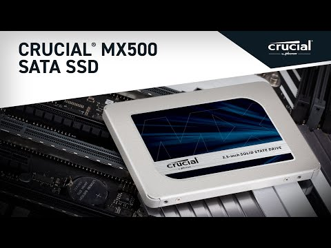 "Crucial MX500 500GB 3D NAND SATA 2.5"" 7mm (with 9.5mm adapter) Internal SSD- view 5"