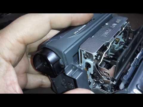 """Ремонт Mini DV камеры. Ошибка """"Снимите и заново вставьте видеокассету""""."""