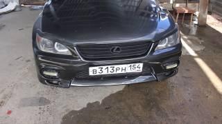 Ремонт стеклопластикового бампера и покраска. Lexus is 200 (toyota alezza)