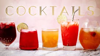 COCKTAIL RECIPES! 5 Fizzy Cocktails Using A SodaStream