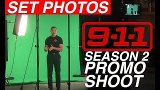 Behind The Scenes of '9-1-1' Season 2 Promotional Shoot