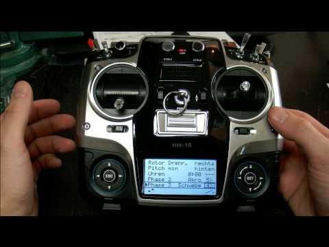 Technik 04: Sender Grundeinstellungen Graupner MX16 HOTT