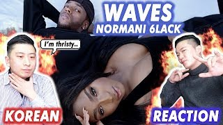 [ENG SUB]🔥KOREAN BOYS React To Normani Ft. 6lack   WAVES