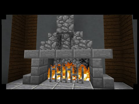 ✪Minecraft: How to make simple fireplace!