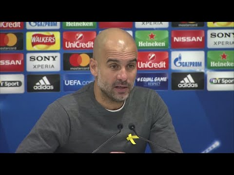 Football: Manchester City coach Pep Guardiola reacts to loss against Liverpool FC