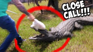 CLOSE CALL FEEDING A GIANT CROCODILE!!!   BRIAN BARCZYK