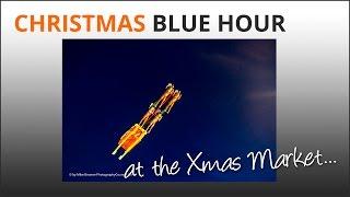 Christmas blue hour photo ideas