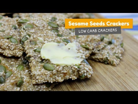 Video recipe: Sesame seed crackers | Low Carb Crackers #1