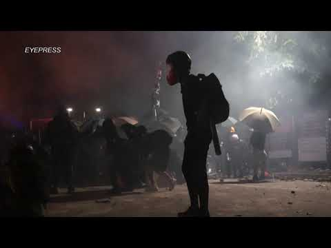 Night of rage: Intense protest clashes at varsity campus in Hong Kong