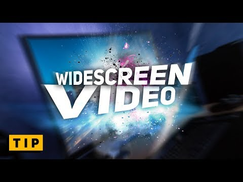How to Upload WIDESCREEN Videos CORRECTLY - in 60 seconds!