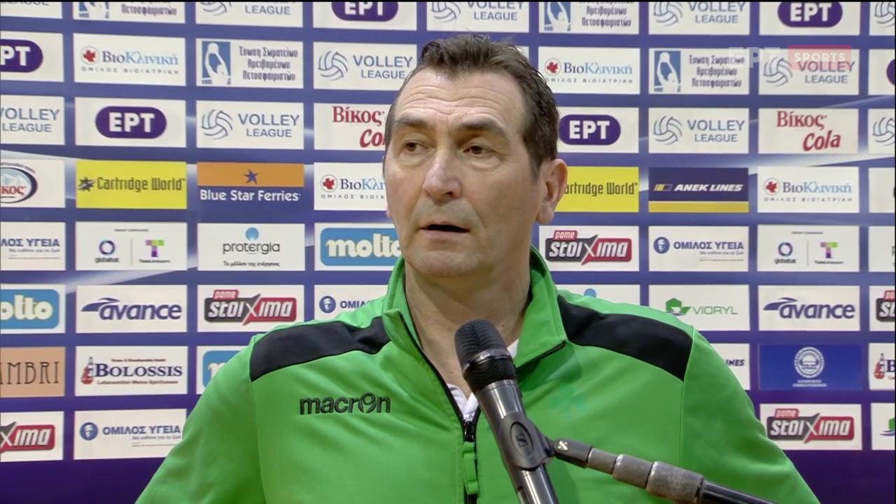 Volley League | Δ.Ανδρεόπουλος: Ήταν μεγάλο ντέρμπι, στις λεπτομέρειες το πήρε ο ΠΑΟΚ | 02/3/21| ΕΡΤ