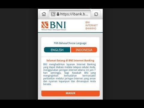 Cek Mautasi Rekening Internet banking Bni