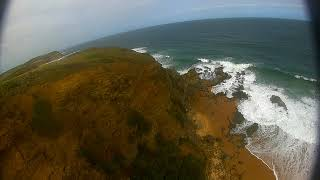 Beach FPV DC5 test flight