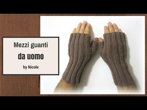 Mezzi guanti a maglia per uomo -DIY knit fingerless gloves