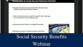Social Security Benefits Webinar