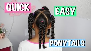 Lazy Day Ponytails #2 | Quick & Easy ▸ Little Girls Hairstyles