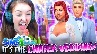 🤵🏼👰🏽IT'S THE CHASER WEDDING!!!👰🏽🤵🏼 (The Sims 4 IN THE SUBURBS #22! 🏘)