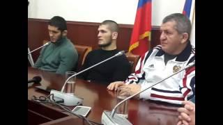 Почему Хабиб Нурмагомедов повысил тон, о...ане Уай