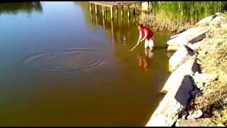 Мега карп на Барабое!!! Carp fishing Ukraine Супер рыбалка:)