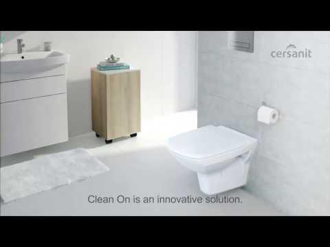 Clean On Toilettenschüssel von cersanit - Die Innovation in der Badhygiene!