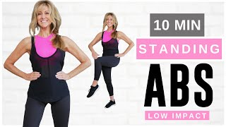 10 Minute STANDING ABS Indoor Workout For Women Over 50   Burn Belly Fat!